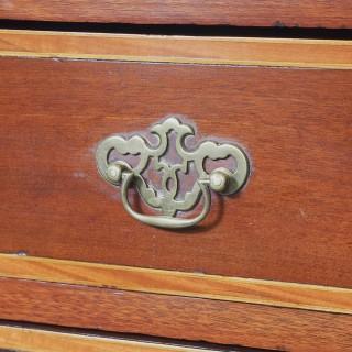 Tall George III Irish Inlaid Mahogany Chest of Drawers