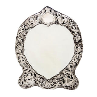 Antique Victorian Sterling Silver Mirror 1895