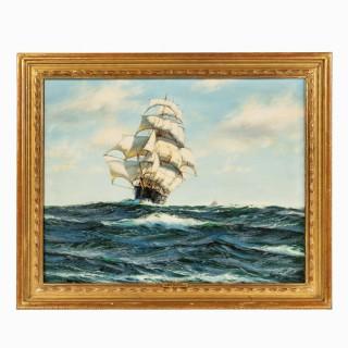 'Silver Seas' by Henry Scott, (1911-2005)