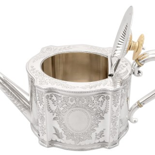 Sterling Silver Three Piece Tea Service - Antique Victorian (1884)
