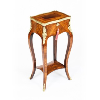 Antique French Parquetry & Marquetry Occasional Table 19th C