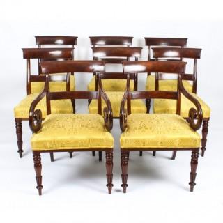Antique Set 8 English William IV Barback Dining Chairs Circa 1830 19th C