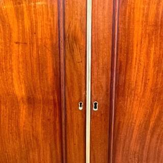 Georgian Mahogany Dwarf Linen Press Cupboard