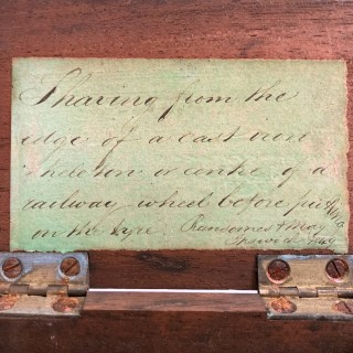 Early Railway Workshop Presentation Gift by Ransomes & May Ipswich 1849