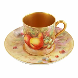 Royal Worcester Fruit Cup Saucer & Plate
