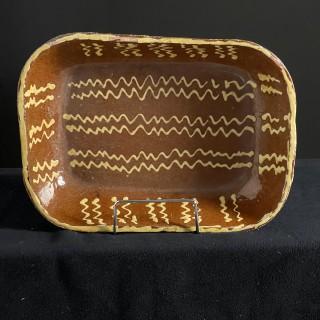 Late 18th Early 19th Century Slipware Dish
