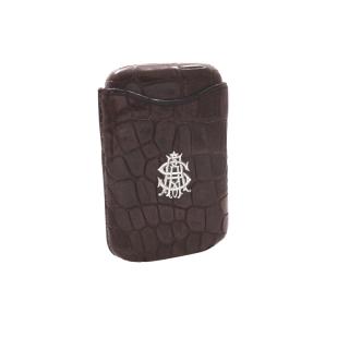 Antique Victorian Genuine Crocodile Leather Cigar Case c1900