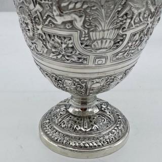 Antique Victorian Sterling Silver Cellini Wine Jug London 1868 John Hunt & Robert Roskell