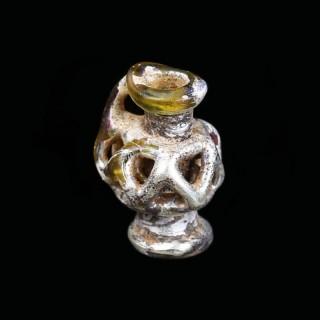 Iridescent Roman Glass Miniature Jug Pendant