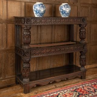 Elizabeth I oak cup-board