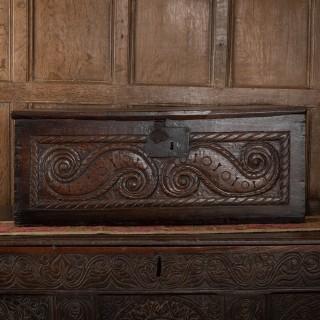 English renaissance oak box