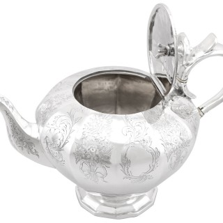 Sterling Silver Teapot - Antique Victorian