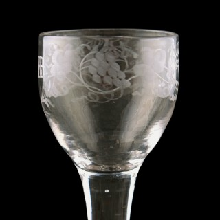 18th Century George II Wine Glass