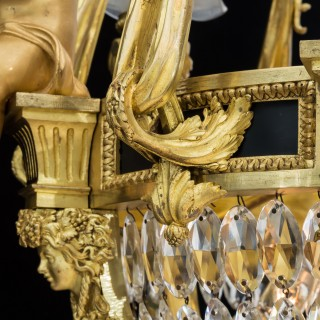 An Important Pair of Ormolu Basket Chandeliers In the Louis XVI Style