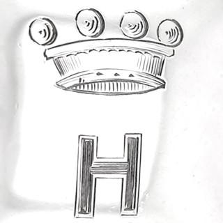 Agate Handled Sterling Silver Gimbal Table Lighter - Antique George V (1910)