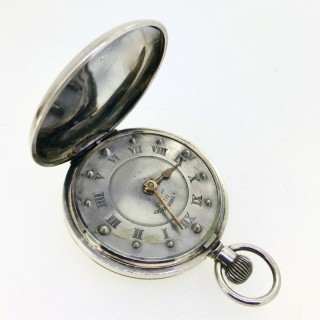 Silver Pocket Watch for the Blind