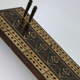 Tunbridge Ware Cribbage Board