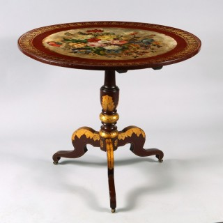 A red lacquer lacquer occasional table