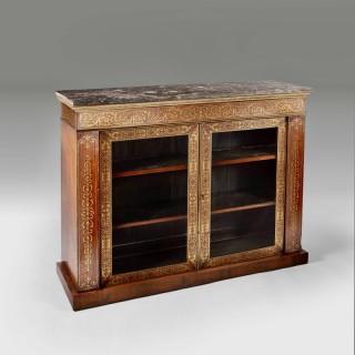 A Regency Boulle side cabinet