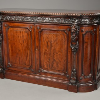 Exhibition quality Renaissance style mahogany side cabinet stamped 'Holland & Sons'