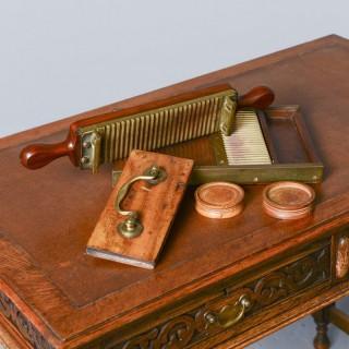Victorian Mahogany and Brass Pill Maker