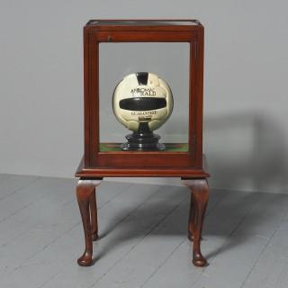 Edwardian Mahogany Display Cabinet on Stand