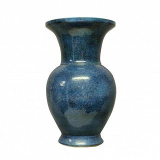 A LARGE & IMPRESSIVE BLUE GROUND CHINESE VASE