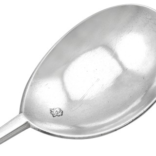 Sterling Silver Seal-Top Spoon - Antique Charles I (Circa 1638)