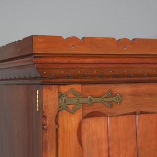 Gothic Style Victorian 2 Door Mahogany Wardrobe