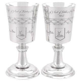 Sterling Silver Chalices - Vintage (1972)