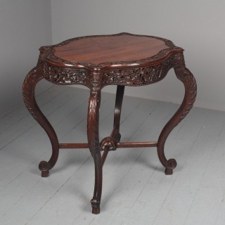 Unusual Anglo-Indian Hardwood Occasional Table