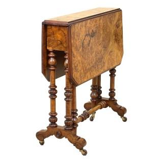 19th Century Victorian Walnut Sutherland Table