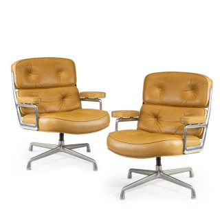 """A pair of twelve swivel """"Time Life Chairs"""" designed by Charles & Ray Eames for Herman Miller in 1960"""