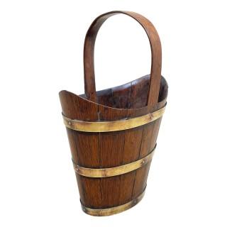 19th Century Oak Bottle Carrier
