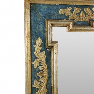 A MID-CENTURY FLORENTINE PAINTED & GILDED MIRROR