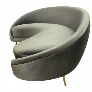 A CURVED SCULPTURAL SOFA BY ICO PARISI