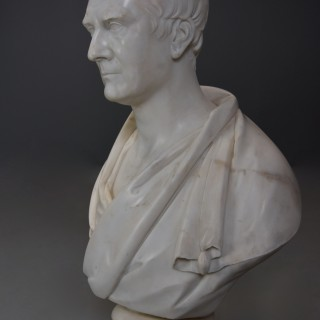 19thc large fine quality marble bust of James Loch MP 1839 signed 'J Francis' (1780-1861)