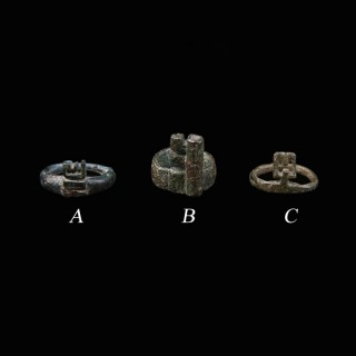 A Fine Selection of Roman Bronze Key Rings