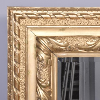 Victorian Carved Giltwood Rectangular Wall Mirror
