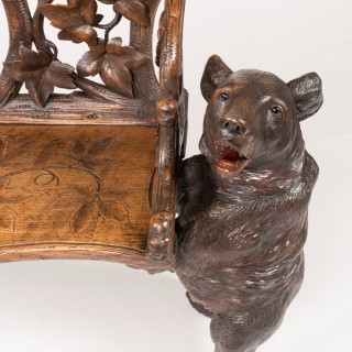 A 'Black Forest' Bear Bench