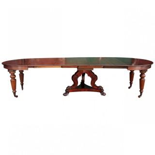 Unusual Victorian Mahogany Extending Dining Table