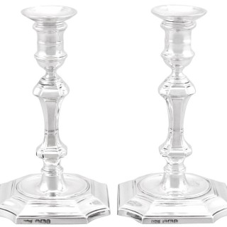 Sterling Silver Taper Candlesticks - Antique Victorian (1893)