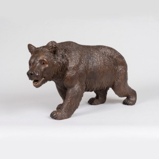 A Black Forest Carving of a Bear