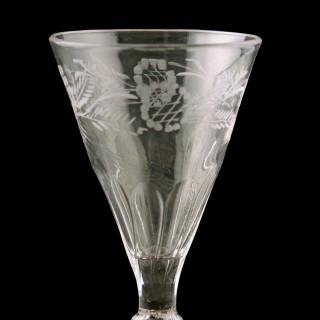 18th Century Georgian Wine Glass