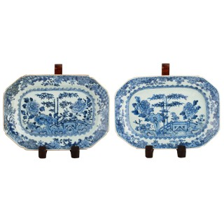Pair of 18th Century Qianlong Dishes