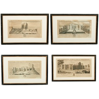 Four Prints of Northumberland Castles