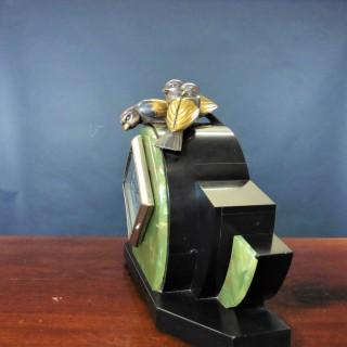 Art Deco French Marble Mantel Clock