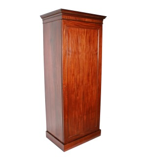 Slim Mahogany One Door Wardrobe