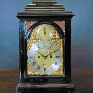 George II Ebonised English Bracket Clock by Thomas Wagstaffe, London