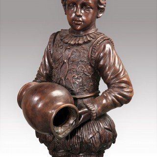 A Fine Early 20th Century Pair of Bronze Figures of Children